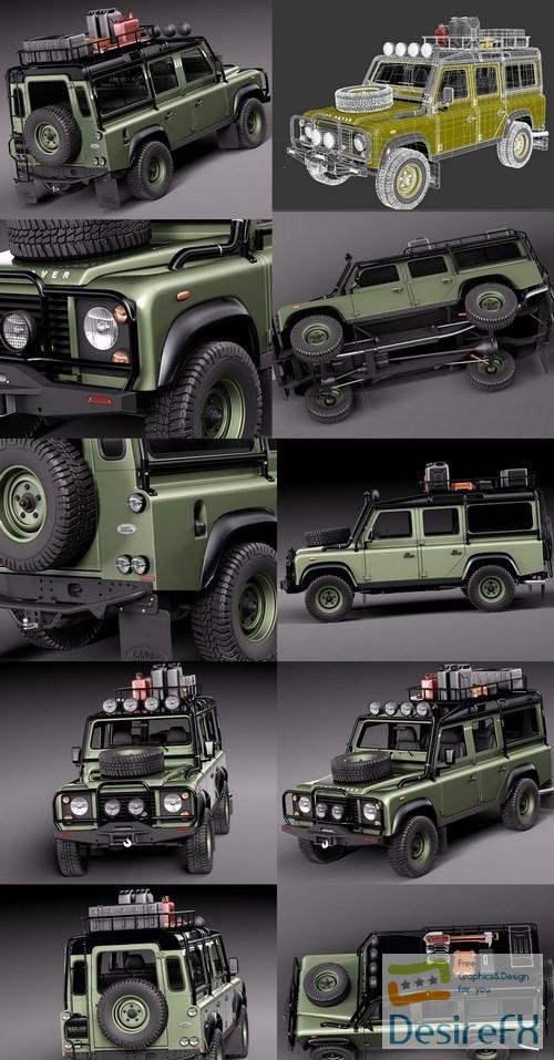 3d-models - Land Rover Defender Expedition 3D Model