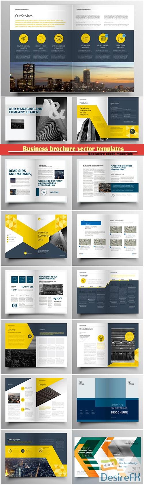 Business brochure vector templates