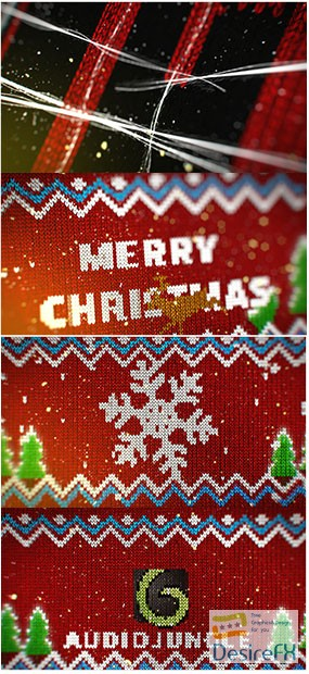 Videohive Knitted Christmas Sweater Logo Reveal