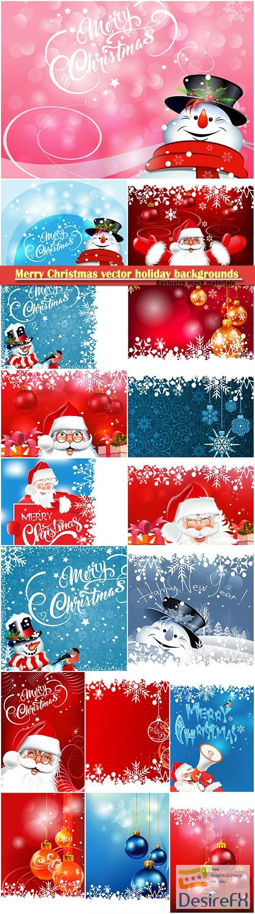 Christmas vector holiday backgrounds