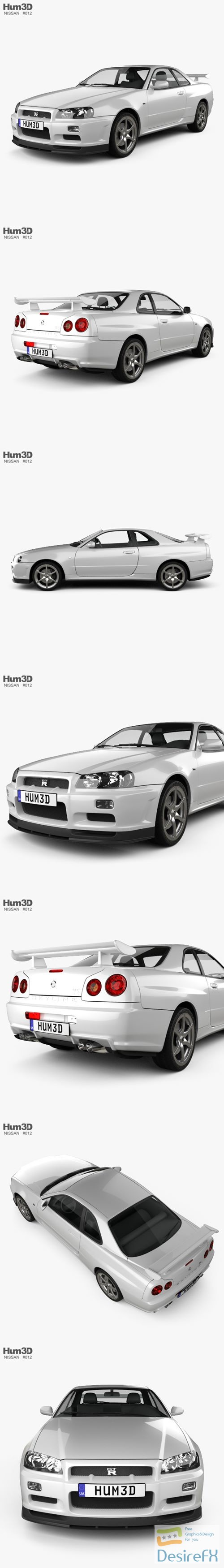 3d-models - Nissan Skyline R34 GT-R coupe 1999 3D Model