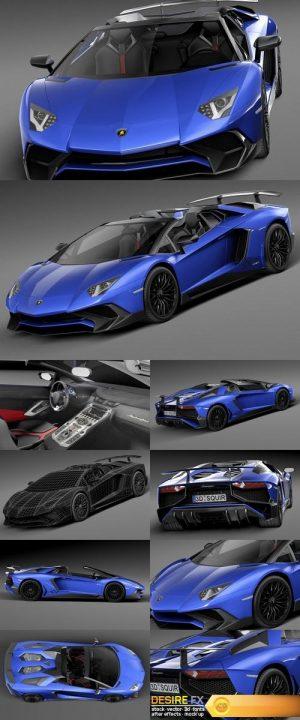 Lamborghini Aventador LP750-4 SV Roadster 2016 – 3D Model