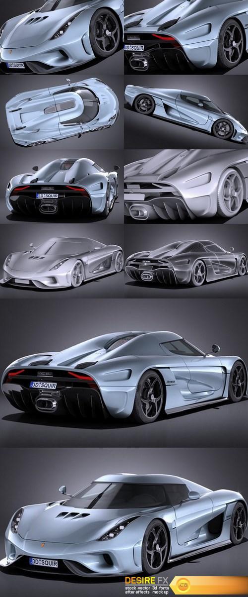 3d-models - Koenigsegg Regera 2017 3D Model