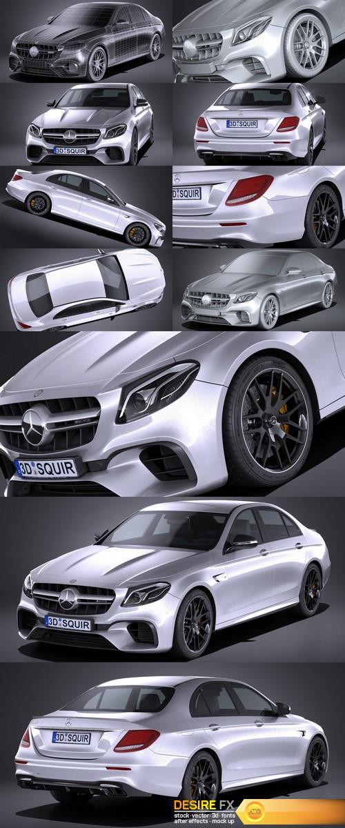 Mercedes E63 AMG 2017 3D Model