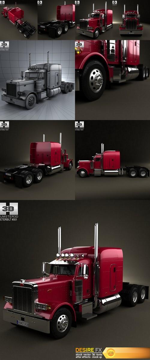 3d-models - Peterbilt 379 Tractor Truck 1987 3D Model