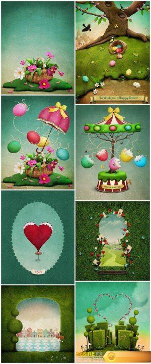 Art background Spring #2 8X JPEG