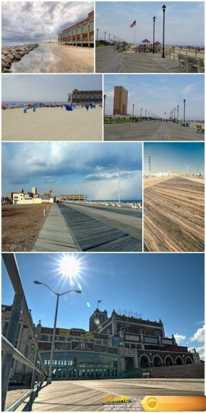 Boardwalk at the beach at Asbury Park in New Jersey – 7xUHQ JPEG