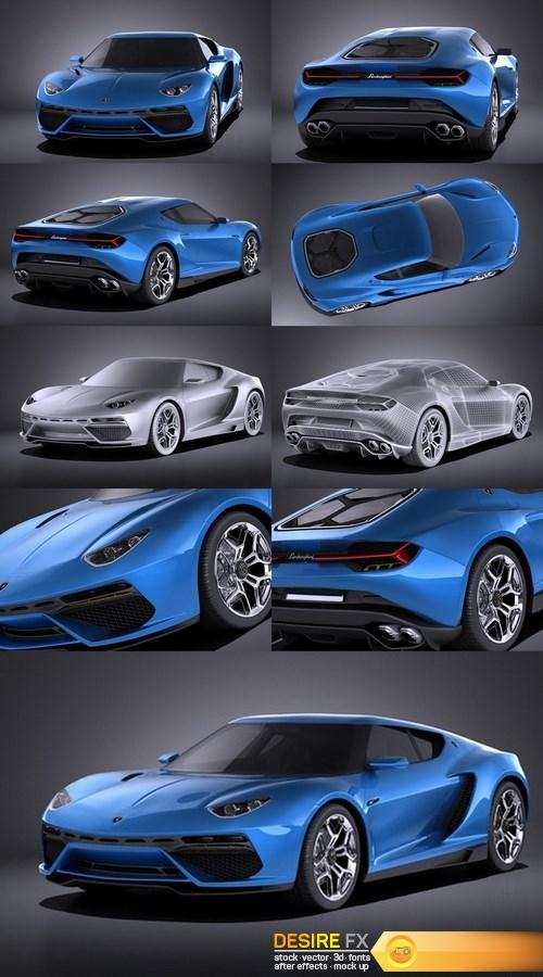 Lamborghini Asterion LPI 910-4 Concept 2017 VRAY 3D Model