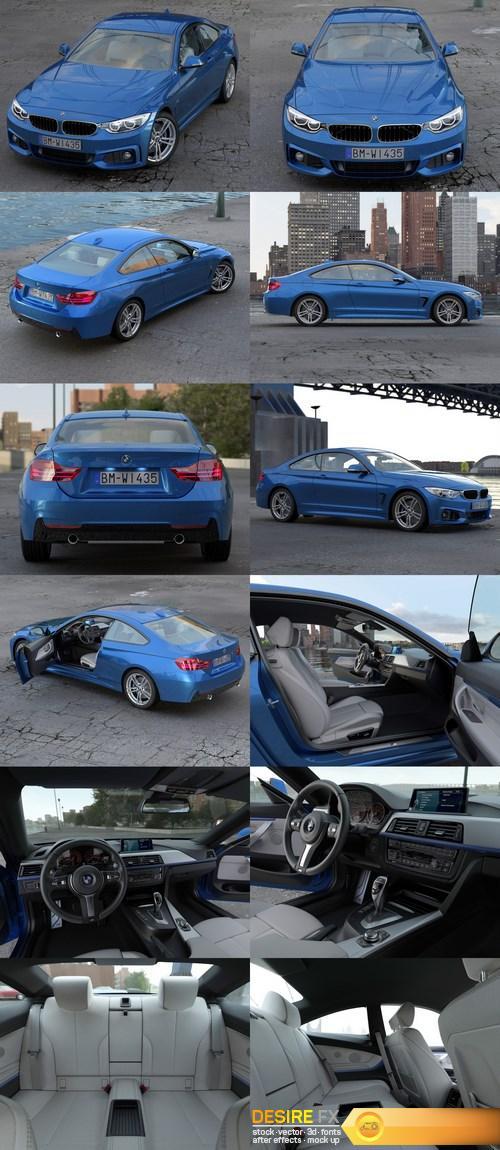 3d-models - BMW 4 Series Coupe M Sport 2014 3D Model