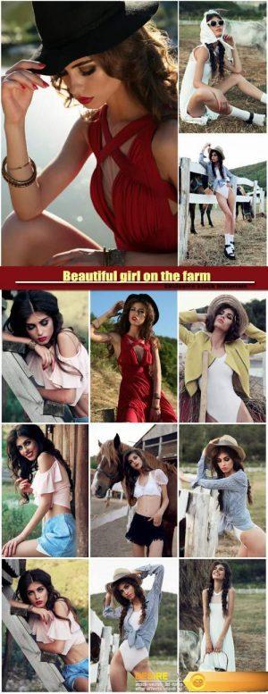 Beautiful girl on the farm