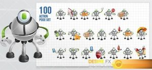 characters - Multiped Robot Cartoon Character
