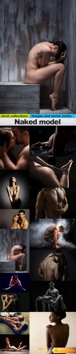 Naked model, 15 x UHQ JPEG