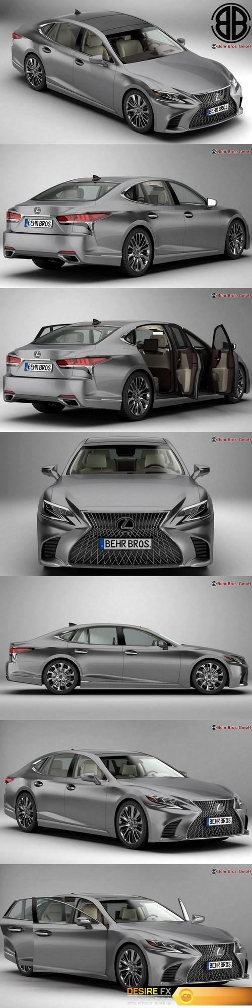 3d-models - Lexus LS 500 2018 3D Model