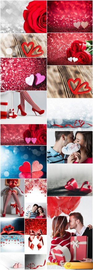 Valentine day couple Roses and hearts 21X JPEG