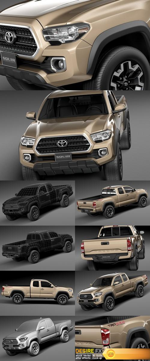 3d-models - Toyota Tacoma TRD Off-Road 2016 3D Model