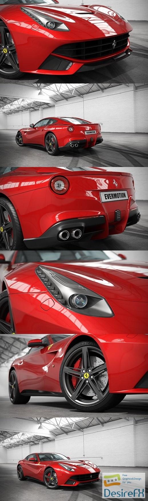 Ferrari 2017 EVERMOTION HD Models Cars Vol.6 3D Model