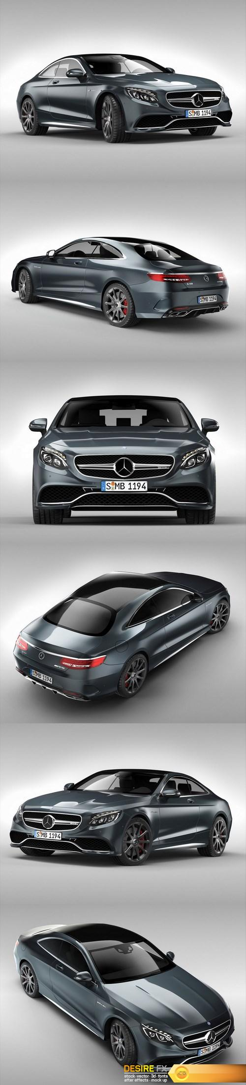 3d-models - Mercedes Benz S63 AMG Coupe 2015 3D Model
