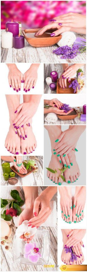 Manicures and beautiful pedicures, hand and foot