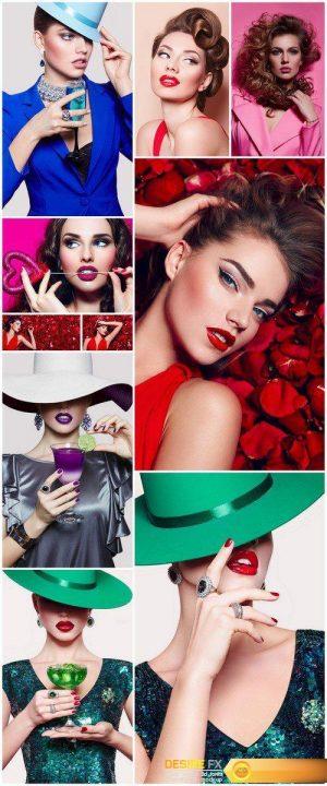 Girl model in a hat 10X JPEG