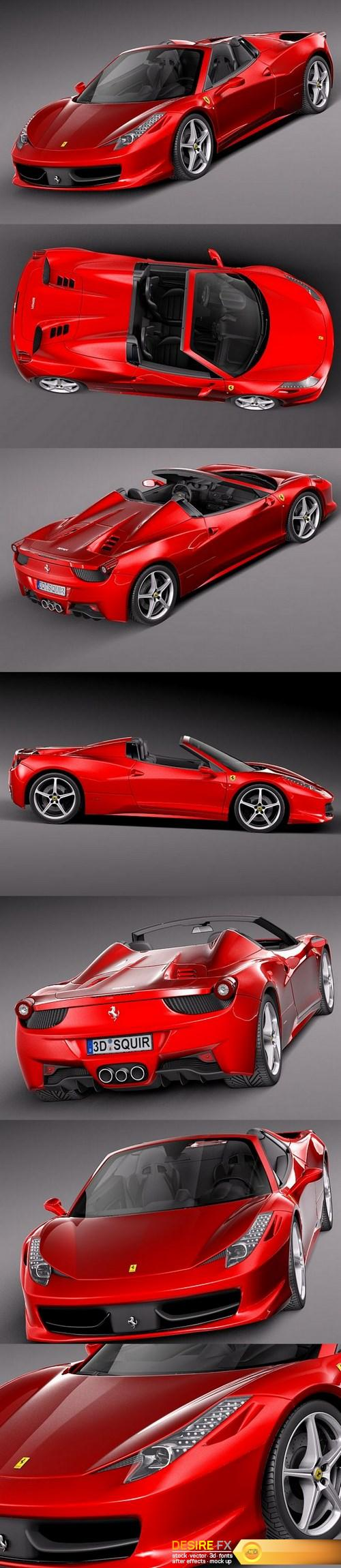 3d-models - Ferrari 458 Spider 2013 3D Model