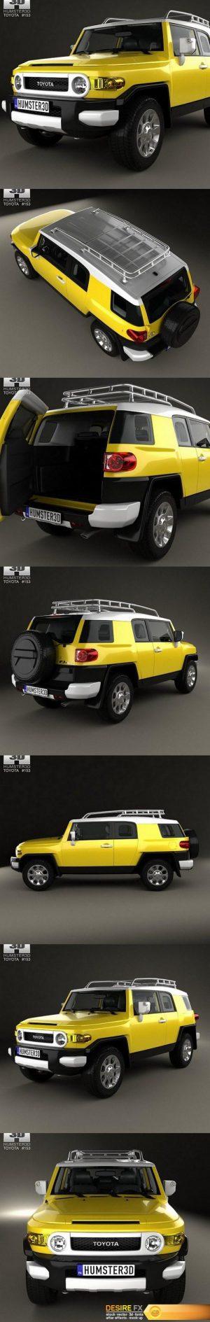 Toyota FJ Cruiser HQ interior 2010 3D Model
