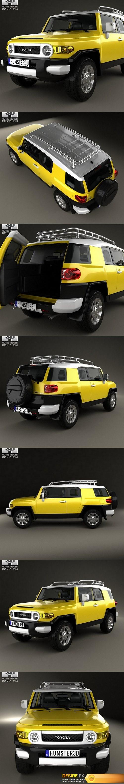 3d-models - Toyota FJ Cruiser HQ interior 2010 3D Model