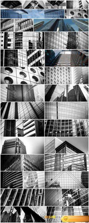 Modern office building against the overcast sky 30X JPEG
