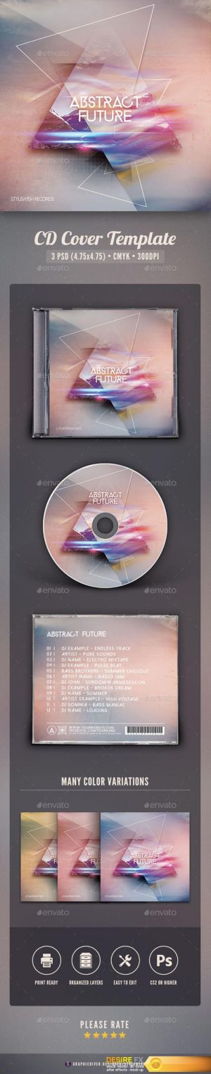 Abstract Future CD Cover Artwork 16150363