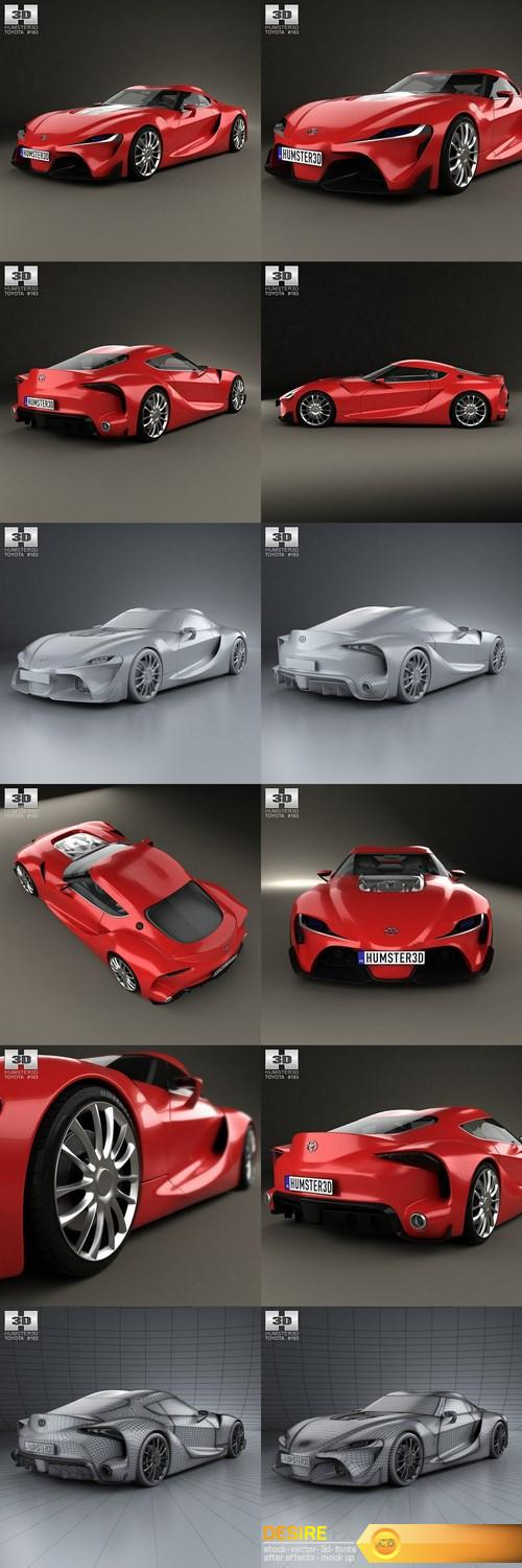 3d-models - Toyota FT-1 2014 3D Model