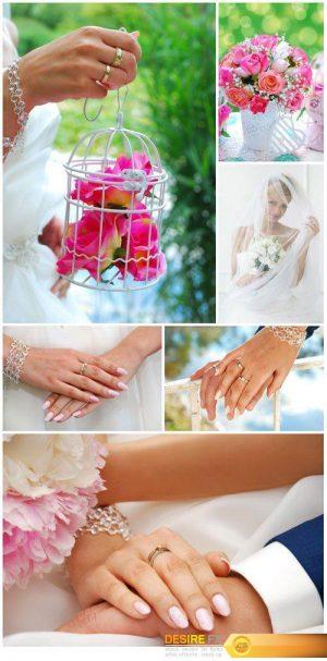 Wedding beautiful stock photos, bride and groom