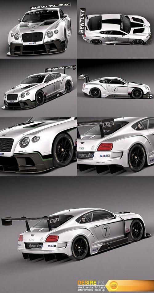 Bentley Continental GT3 2014 RaceCar 3D Model
