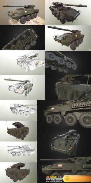 Stryker 1128 MGS LP 3D Model