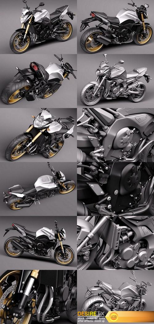 Yamaha FZ8 Fazer 2011 3D Model