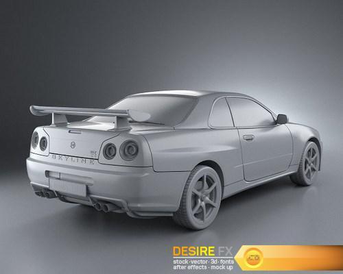 Desirefxcom Download Free Nissan Skyline R34 Gt R Coupe 1999 3d Model