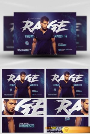 Flyer Template – Blue Rage Party