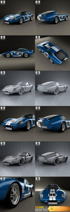 Shelby Cobra Daytona 1964 3D Model