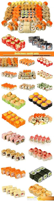 Delicious sushi sets