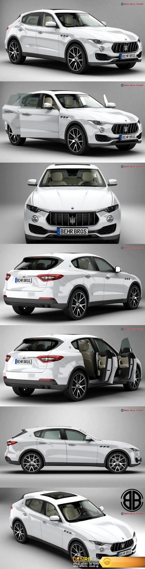 3d-models - Maserati Levante 2017 3D Model