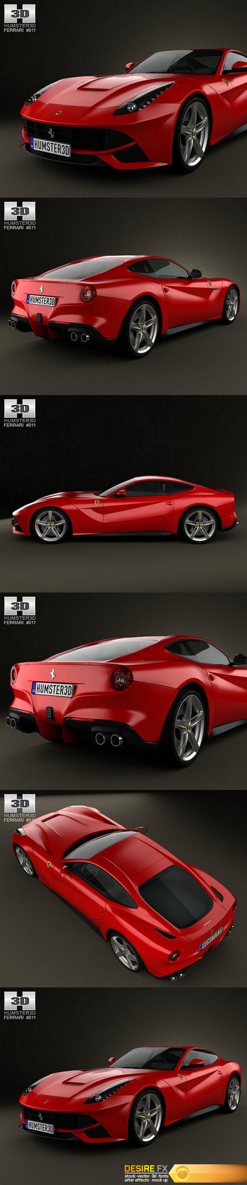 3d-models - Ferrari F12 Berlinetta 2012 3D Model HUMSTER