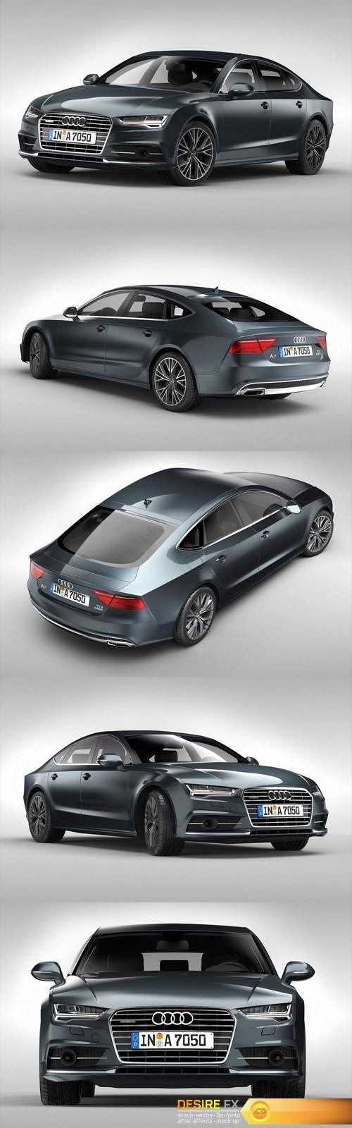 3d-models - Audi A7 Sportback 2017 3D Model