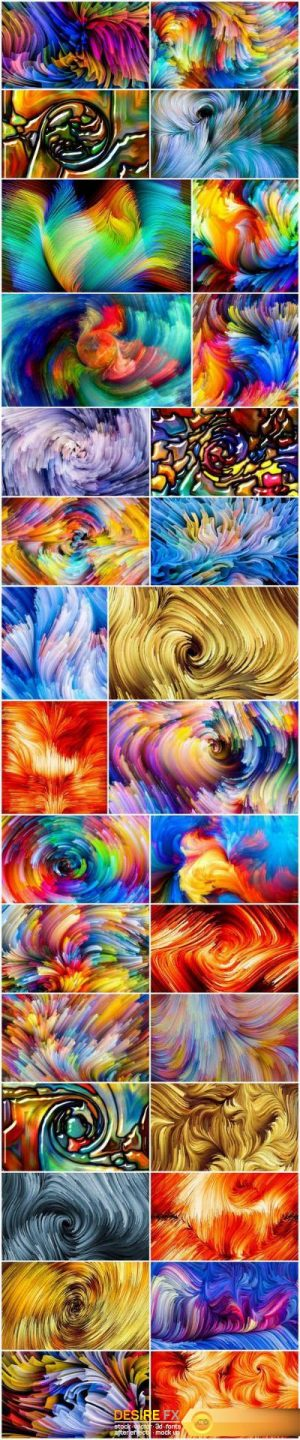 Exploding Color and Abstract Backgrounds – Set of 30xUHQ JPEG Professional Stock Images