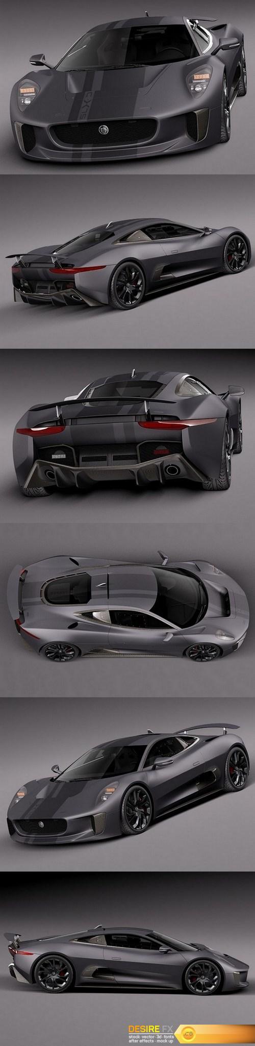 3d-models - Jaguar C-X75 2014 3D Model
