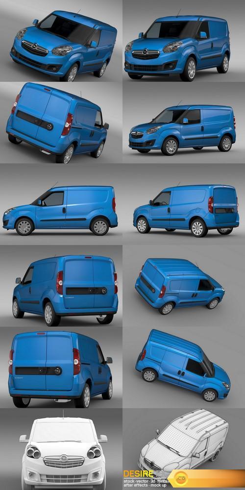 3d-models - Opel Combo SWB Cargo 2015 3D Model