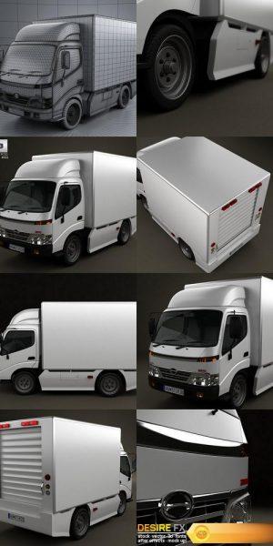 Hino 300 Standard Cab Box 2010 3D Model