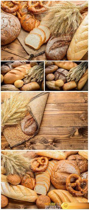 Delicious bread, flour, baking