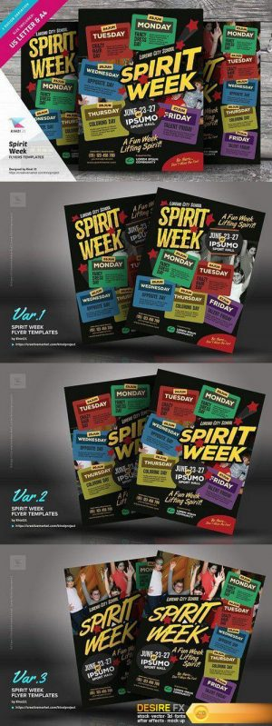 CM – Spirit Week Flyer Templates 1517976