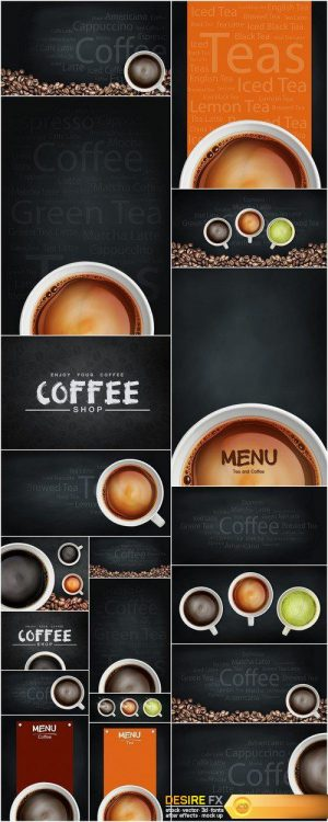 Coffee illustration abstract and background #2 19X JPEG
