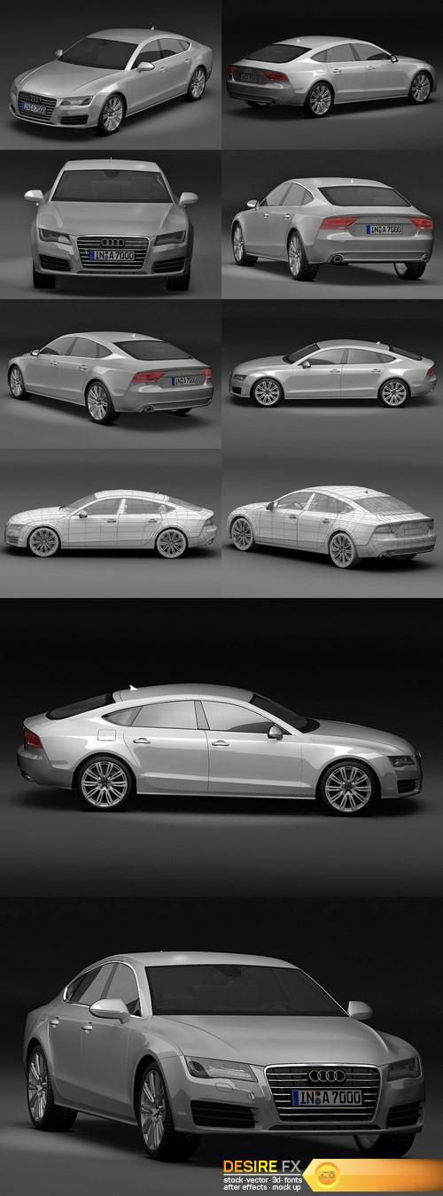 3d-models - Audi A7 Sportback 3D 2011 3D Model