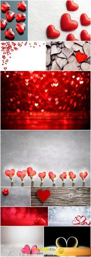 Backgrounds with hearts – 12UHQ JPEG