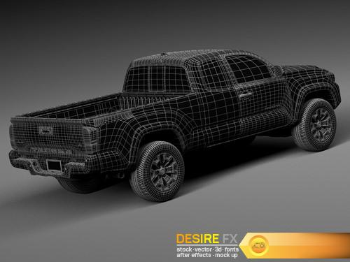 Toyota Tacoma TRD Off-Road 2016 3D Model